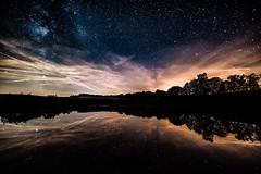 Starry sky above Eichhholzmaar (clemensgilles) Tags: stargazing vulkaneifel sternenhimmel starlight milchstrase milkyway nachtfotografie night eifel germany beautiful