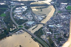 carmarthen (John Bulpin) Tags: flooding carmarthen