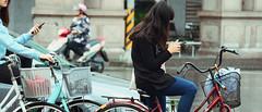 1013_018 (solarliu) Tags: taiwan fog rainy rain trip journey damp blue train bus station snap people passerby girl