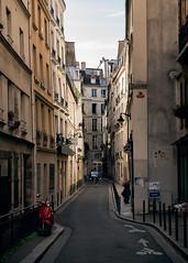Parisian Street (lukebray) Tags: paris woman walking street cosy cozy parisian classic colour