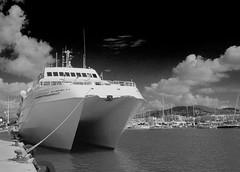 S-M-C Takumar 24mm f/3.5 (AH AP) Tags: smc takumar 24mm f35 35 pentax k50 ibiza sea boat ferry formentera bw