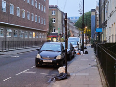 Whitfield Street. 20181018T06-11-33Z (fitzrovialitter) Tags: england fitzrovia gbr geo:lat=5152268000 geo:lon=013765000 geotagged unitedkingdom peterfoster fitzrovialitter city camden westminster streets urban street environment london streetphotography documentary authenticstreet reportage photojournalism editorial daybyday journal diary captureone olympusem1markii mzuiko 1240mmpro microfourthirds mft m43 μ43 μft ultragpslogger geosetter exiftool rubbish litter dumping flytipping trash garbage