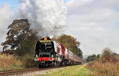 The Duchess At Irwell Vale (2) (Neil Harvey 156) Tags: steam steamloco steamengine steamrailway railway 6233 duchessofsutherland irwellvale eastlancsrailway elr duchesspacific stanierpacific coronationclass lms stanier lmsred