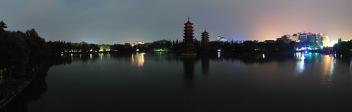 Guilin twintowers pano