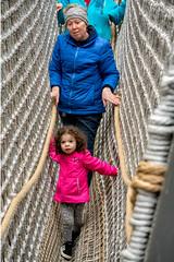 _DSC4890 Rope Bridge (Charles Bonham) Tags: whitingforestcanopywalk midlandmi fall canopywalk pod treefort ropebridge child toddler sonya7rll charlesbonhamphotography outdoors