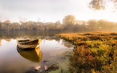 Autumn Light (GeorgKazrath) Tags: altreihn angelboot birten boot kahn canonm6 1122mm canon1122mm herbst autumn boat fishingboat lowerrhine niederrhein