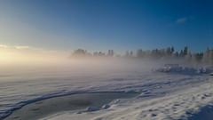 A Stroll by the Frozen Sea (CraDorPhoto) Tags: nokian8 landscape seascape frozensea mist sky blue ice snow boats outdoors nature westend espoo finland
