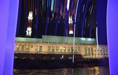 Croisière sur la Moskova (RarOiseau) Tags: moscou russie nuit reflet intérieur bateau lamoskova rivière usine