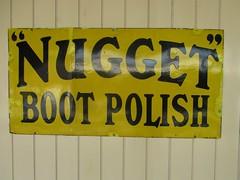 767 Bluebell Railway - Nugget Boot Polish (robertknight16) Tags: bluebell signs advertising enamel polish bootpolish dubbing nugget cherryblosom