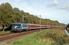 20181007 RPR 101001 + rijtuigen, Castricum (Bert Hollander) Tags: castricum cas railpromo loc 101001 eloc locomotief serie 1700 blauwwit charter mueller muenster rijtuigen euroexpress extra rfs trein 13441amrkn 1781