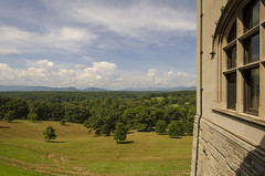 Biltmore House View (rschnaible) Tags: biltmore house estate mansion home building architecture asheville north carolina the south history historic interior outdoor view landscape grass woods forest blue ridge mountains