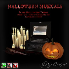 ღ ♡ Halloween Musical - Halloween Theme by Page Creations™ ♡ ღ (Raven Page) Tags: halloween props decor mesh spooky scary fog pumpkins musical gothic goth