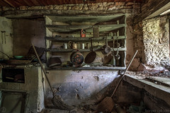 Maison Renard (Oto Burger) Tags: kitchen abandoned decay old forgotten dishes shelf urbex urban exploration house