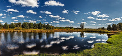 8R9A3047-50Ptzl1scTBbLGERk2 (ultravivid imaging) Tags: ultravividimaging ultra vivid imaging ultravivid colorful canon canon5dm3 clouds countryscene water painterly pond reflections autumn autumncolors pennsylvania pa panoramic landscape lateafternoon farm trees vista rural