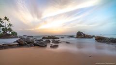 Mount Lavinia Sri Lanka (Rutger.Zegveld) Tags: longexposure sunset golden hour beach blue water waves rocks frozen sri lanka mount lavinia sony a7 laowa15mmf2 landscape photography geographic traveling
