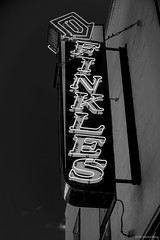 Finkles, Lambertville (kartofish) Tags: signs lambertville newjersey finkles fuji fujifilm xt2 neon monochrome blackwhite