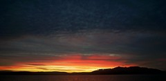 Firey Arran Sunset (matthewblackwood10) Tags: arran sunset sun set siren glow red sky skies clouds mountains sea ocean water reflection island scotland uk ayrshire