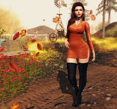 Songbirds only end up where they're going (Neva Valon) Tags: labaguette stealthic paperarrow epiphany nerido sl secondlife female woman blog blogger style fashion lotd autumn fall avatar pixel virtual