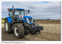 New Holland T7030 (Paul Simpson Photography) Tags: newhollandt7030 tractor farm farming machinery transport paulsimpsonphotography farmlife england sonya77 imagesof imageof photoof photosof field ploughing farmland northlincolnshire october 2018 autumn tractortyres muddyfield