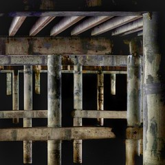 Under Another Bridge (2n2907) Tags: abstract bridge piers highway olympus digital dslr camera omd photo