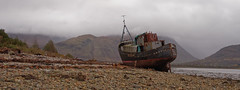 The infamous ship wreck at Corpach - Ben Nevis in the background (poor weather) (simpaticoltd) Tags: scotland ben nevis corpach near fort william ship wreck water loch poor weather ngc