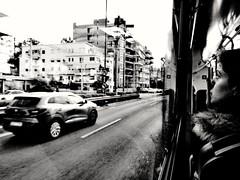 Pireas, Greece (denismartin) Tags: denismartin greece athens athènes bus travel flickrtravelaward travelphotography blackandwhite peopleportait people car ontheroad