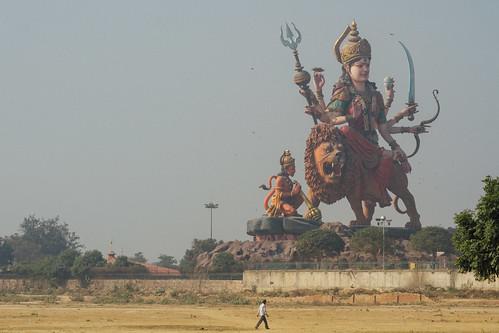 Giant Durga Statue, Vrindavan India