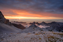 Sunrise in Julian Alps