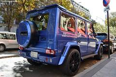 Mercedes Brabus G700 Widestar (Monde-Auto Passion Photos) Tags: voiture vehicule auto automobile mercedes brabus classe g700 widestar bleu blue sportive rare rareté 4x4 suv ksa arabiesaoudite plaza plazaathénée montaigne france paris