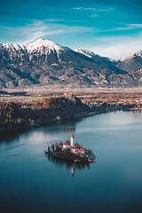 Lake Bled (dogslobber) Tags: yellow travel adventure explore wander wanderlust slovenia europe lake bled castle
