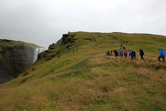 Climbing the Hill (JB by the Sea) Tags: southiceland southconstituency suðurkjördæmi southcoast iceland ísland europe september2018 skógar skogar rangárþingeystra skógafoss skogafoss