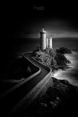 Dark Minou (cbreadwine) Tags: brittany lighthouseofminou blackandwhite finistere dark painvin christophe landscape seascape