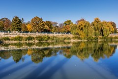 Autumn colours at the river (Daniel Boca) Tags: water waterscape river reflection reflections mirror green yellow blue bluesky bluewater outdoor outside canon canoneos750d canoneurope canonromania nature naturephotography naturepics naturephotograph autumn leafs landscape