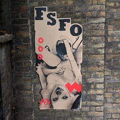 FSFO! (id-iom) Tags: idiom onchan isleofman iom carboard fsfo cutout london sex graffiti vandalism woman free street drop art urban