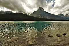 Waterfowl Lake (Rudi Verspoor) Tags: jasper nationalpark canada mountains mountainscape clouds sky sun blue bluesky lake water travel alberta rockies