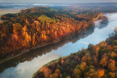 By the river (xkolba) Tags: scenery scenic sunrise morning trees autumn outdoor landscape podlasie bug river riverbank water wood forest flowingwater poland reflections tree mavicpro drone aerial countryside droneshot dronephoto dji