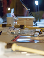 PA290473 (badger_beard) Tags: edel hopkins book binding workshop all saints church jesus lane cambridge cambridgeshire south cambs churches conservation trust city crafts masterclass