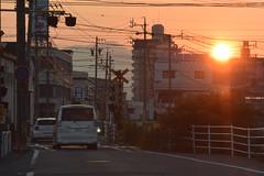 yokkaichi5644 (tanayan) Tags: urban town cityscape yokkaichi mie japan nikon v3 road street alley 三重 四日市 日本 evening sunset