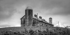 Creamery Barn-BW (Bob G. Bell) Tags: barn abandoned creamery pencesprings wv dairy farmbw bobbell xt1