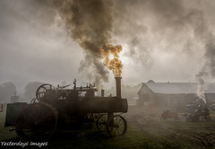 Foggy Morning (David Clippinger) Tags: brookvilleindiana tractorshows steamshow steam steamengine fog smoke