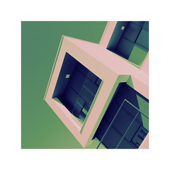 ...frontage (claredlgm1) Tags: frontage balcony abstract green pink artistic architecture geometric diagonal pov