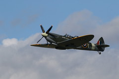 Time to enjoy the flight (roger_forster) Tags: spitfire mkiv solent airport leeonthesolent hampshire takeoff merlin
