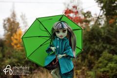 Frankie (astramaore) Tags: astramaore frankie stein monster high dollphotography doll umbrella fall autumn