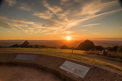 Last Night's Sunset 27-09-2018 on Clent Hills ,North Worcestershire (williamrandle) Tags: nikon d750 tamron2470f28vc clent clenthills worcestershire westmidlands england uk 2018 autumn hills sunset goldenlight sky clouds trees bench beautiful peaceful outdoor landscape view
