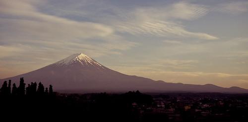 Dusk over Mount Fuji