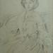 DEGAS Edgar,1860 - Madame Hertel assise sur un Canapé (Louvre RF29294) - Detail 01