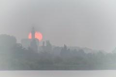 Perfect Moment (NathalieSt) Tags: camargue europe france gard languedocroussillon aiguesmortes brouillard brume fog leverdesoleil mist nikon nikond5500 nikonpassion nikonphotography sunrise tourdeconstance