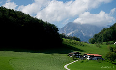 Greenland (dobetoh) Tags: dobetoh nikon d3300 austria germany europe alps tirol september summer grass green mountain landscape houses mountains trees