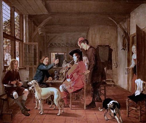 IMG_2100I Ludolf de Jongh 1616-1679 Rotterdam  Hunters resting in an Inn.  Chasseurs au repos dans une auberge 1658 Groningen.   Groninger museum
