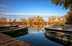boat on the river (drummerwinger) Tags: herbst see wasser water autumn spiegelung ndfilter langzeitbelichtung canon80d tokina thenn landkreiserding mirror